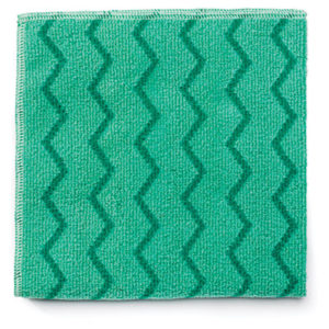 (RCPQ620)RCP Q620 – Reusable Cleaning Cloths, Microfiber, 16 x 16, Green, 12/Carton by RUBBERMAID COMMERCIAL PROD. (12/CT)