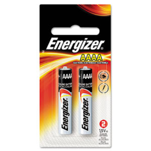 (EVEE96BP2)EVE E96BP2 – MAX Alkaline AAAA Batteries, 1.5V, 2/Pack by EVEREADY BATTERY (2/PK)