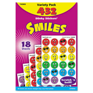 (TEPT83903)TEP T83903 – Stinky Stickers Variety Pack, Smiles, 432/Pack by TREND ENTERPRISES, INC. (432/PK)