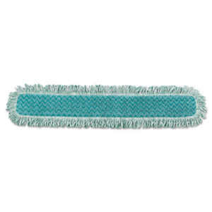 """(RCPQ438)RCP Q438 – HYGEN Dry Dusting Mop Heads with Fringe, 36"""", Microfiber, Green by RUBBERMAID COMMERCIAL PROD. (1/EA)"""
