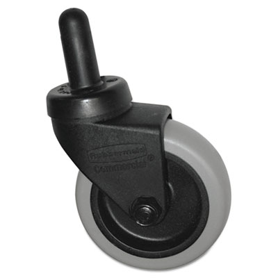 "(SGSFG7570L20000)SGS FG7570L20000 – Replacement Swivel Bayonet Casters, 3"" Wheel, Thermoplastic Rubber, Black by RUBBERMAID COMMERCIAL PROD. (1/EA)"
