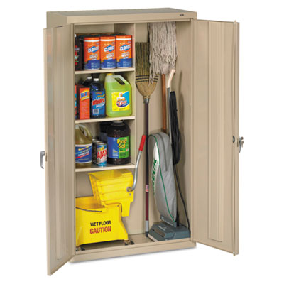 (TNNJAN6618DHPY)TNN JAN6618DHPY – Janitorial Cabinet, 36w x 18d x 64h, Putty by TENNSCO (1/EA)