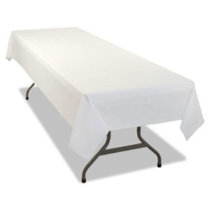 (TBL549WHCT)TBL 549WHCT – Rectangular Table Cover, Heavyweight Plastic, 54 x 108, White, 24 Each/Carton by TABLEMATE PRODUCTS, CO. (24/CT)