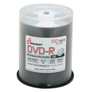 (NSN6147492)NSN 6147492 AbilityOne® SKILCRAFT® DVD-R Recordable Disc ( Per )