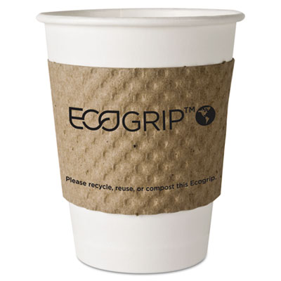 (ECOEG2000)ECO EG2000 – EcoGrip Hot Cup Sleeves – Renewable & Compostable, 1300/CT by ECO-PRODUCTS,INC. (1300/CT)