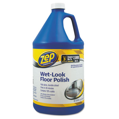 (ZPEZUWLFF128EA)ZPE ZUWLFF128EA – Wet Look Floor Polish, 1 gal Bottle by ZEP INC. (1/EA)