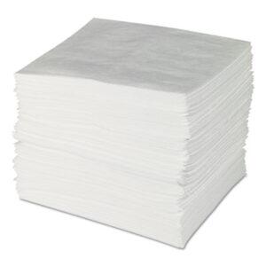 (SBDENV300)SBD ENV300 – ENV MAXX Enhanced Oil Sorbent Pads, .24gal, 15w x 19l, White, 100/Bundle by BRADY WORLDWIDE INC (100/BD)