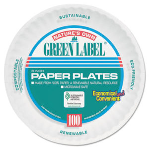 "(AJMPP6AJKWH)AJM PP6AJKWH – Paper Plates, 6"" Diameter, White, Bulk Pack, 1000/Carton by AJM PACKAGING CORP. (1000/CT)"