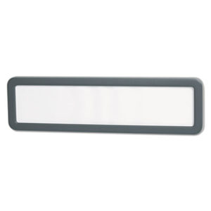 (UNV08223)UNV 08223 – Recycled Cubicle Nameplate with Rounded Corners, 9 x 2 1/2, Charcoal by UNIVERSAL OFFICE PRODUCTS (1/EA)