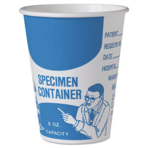(SCCSC378)SCC SC378 – Paper Specimen Cups, 8 oz, Blue/White, 20/Carton by DART (1000/CT)