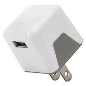 SOS USBH121WT – superCUBE Flip Wall Charger, USB, White by SCOSCHE (1/EA)