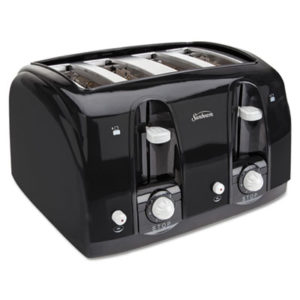 (SUN39111)SUN 39111 – Extra Wide Slot Toaster, 4-Slice, 11 3/4 x 13 3/8 x 8 1/4, Black by SUNBEAM PRODUCTS, INC. (1/EA)
