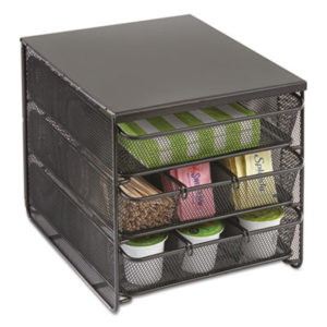 SAF 3275BL – 3 Drawer Hospitality Organizer, 7 Compartments, 11 1/2w x 8 1/4d x 8 1/4h, Bk by SAFCO PRODUCTS (1/EA)