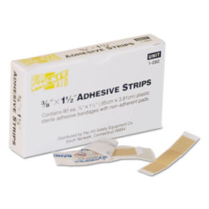 """(FAO1080)FAO 1080 – SmartCompliance Plastic Bandage, 3/8"""" x 1 1/2"""", 80/Box by FIRST AID ONLY, INC. (80/BX)"""