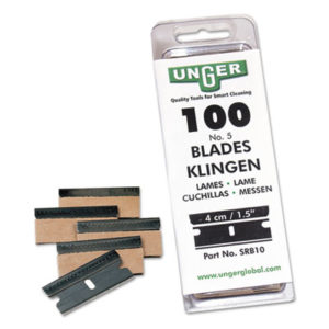 (UNGSRB30)UNG SRB30 – Safety Scraper Replacement Blades, #9, Stainless Steel, 100/Box by UNGER (100/PK)