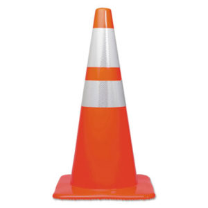 (TCO25900)TCO 25900 – Traffic Cone, 28h x 14w x 14d, Orange/Silver by TATCO (1/EA)