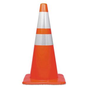 (TCO25900)TCO 25900 – Traffic Cone, 28h x 14w x 14d, Orange/Silver by TATCO (1/EA)