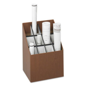 (SAF3079)SAF 3079 – Corrugated Roll Files, 12 Compartments, 15w x 12d x 22h, Woodgrain by SAFCO PRODUCTS (1/EA)