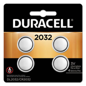 (DURDL2032B4PK)DUR DL2032B4PK – Lithium Coin Battery, 2032, 4/Pack by DURACELL PRODUCTS COMPANY (4/PK)