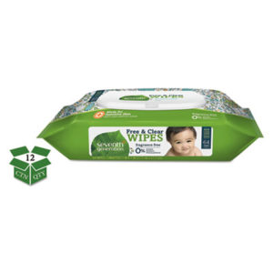 (SEV34208CT)SEV 34208CT – Free & Clear Baby Wipes, Unscented, White, 64/PK, 12 PK/CT by SEVENTH GENERATION (12/CT)