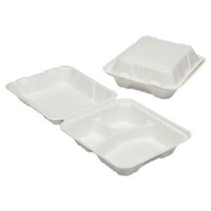 (NSN6646905)NSN 6646905 AbilityOne® SKILCRAFT® Clamshell Hinged Lid To-Go Food Containers ( Per )