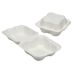(NSN6646906)NSN 6646906 AbilityOne® SKILCRAFT® Clamshell Hinged Lid To-Go Food Containers ( Per )