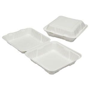 (NSN6646907)NSN 6646907 AbilityOne® SKILCRAFT® Clamshell Hinged Lid To-Go Food Containers ( Per )