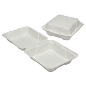 (NSN6646908)NSN 6646908 AbilityOne® SKILCRAFT® Clamshell Hinged Lid To-Go Food Containers ( Per )