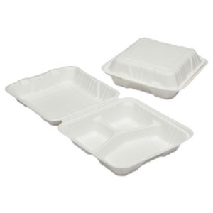 (NSN6646909)NSN 6646909 AbilityOne® SKILCRAFT® Clamshell Hinged Lid To-Go Food Containers ( Per )