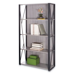 (SAF1903GR)SAF 1903GR – Mood Bookcases, 31 3/4w x 12d x 59h, Gray by SAFCO PRODUCTS (1/EA)