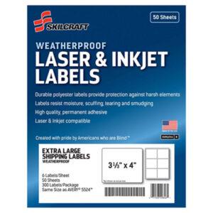 (NSN6736217)NSN 6736217 AbilityOne® SKILCRAFT® Weatherproof Mailing Labels ( Per )