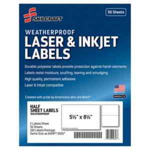 (NSN6736219)NSN 6736219 AbilityOne® SKILCRAFT® Weatherproof Mailing Labels ( Per )