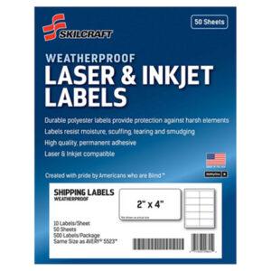 (NSN6736220)NSN 6736220 AbilityOne® SKILCRAFT® Weatherproof Mailing Labels ( Per )