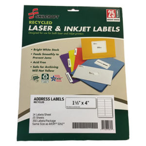 (NSN6736514)NSN 6736514 AbilityOne® SKILCRAFT® Recycled Laser and Inkjet Label ( Per )
