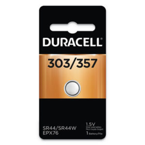 (DURD303357PK)DUR D303357PK – Button Cell Battery, 303/357, 1.5V, 6/Box by DURACELL PRODUCTS COMPANY (6/BX)