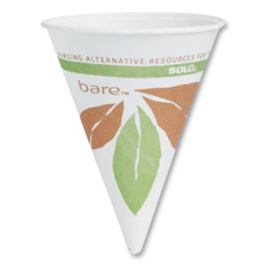 SCC 4BR – Cone Water Cups, Cold, Paper, 4oz, White, 200/Pack by DART (200/PK)