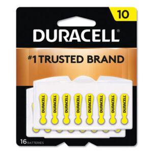 (DURDA10B16ZM10)DUR DA10B16ZM10 – Hearing Aid Battery, #10, 16/Pack by DURACELL PRODUCTS COMPANY (16/PK)