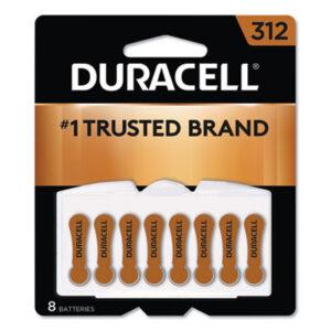 (DURDA312B8ZM09)DUR DA312B8ZM09 – Hearing Aid Battery, #312, 8/Pack by DURACELL PRODUCTS COMPANY (8/PK)
