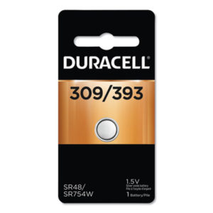 (DURD309393)DUR D309393 – Button Cell Battery, 309/393, 1.5V by DURACELL PRODUCTS COMPANY (1/EA)