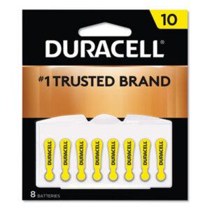 (DURDA10B8ZM10)DUR DA10B8ZM10 – Hearing Aid Battery, #10, 8/Pack by DURACELL PRODUCTS COMPANY (8/PK)