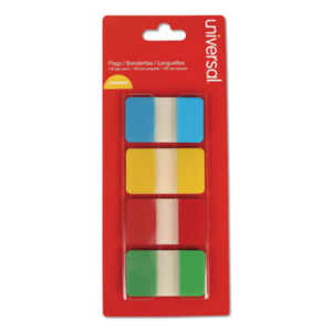 """(UNV99020)UNV 99020 – Self Stick Index Tab, 1"""", Assorted Colors, 100/Pack by UNIVERSAL OFFICE PRODUCTS (100/PK)"""