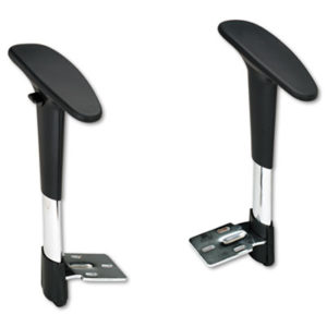 (SAF3495BL)SAF 3495BL – Adjustable T-Pad Arms for Metro Series Extended-Height Chairs, Black/Chrome by SAFCO PRODUCTS (2/PR)