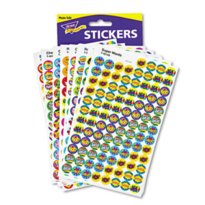 (TEPT1945)TEP T1945 – SuperSpots and SuperShapes Sticker Variety Packs, Positive Praisers, 2,500/Pack by TREND ENTERPRISES, INC. (2500/PK)