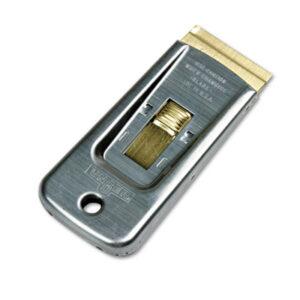 "(UNGSR50)UNG SR50 – Safety Scraper, 1 1/2"" Wide, 4"" Steel Handle by UNGER (1/EA)"