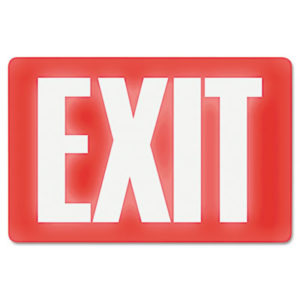 (USS4792)USS 4792 – Glow In The Dark Sign, 8 x 12, Red Glow, Exit by U. S. STAMP & SIGN (/)