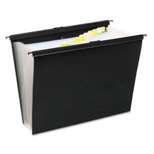 (WLJ68205)WLJ 68205 – Slide-Bar Expanding Pocket File, Letter Size, 12 Dividers, Black by WILSON JONES CO. (1/EA)