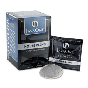 (JAV40300)JAV 40300 – Coffee Pods, House Blend, Single Cup, 14/Box by JAVA TRADING CO. (14/BX)