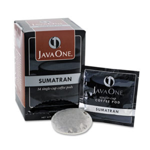 (JAV60000)JAV 60000 – Coffee Pods, Sumatra Mandheling, Single Cup, 14/Box by JAVA TRADING CO. (14/BX)