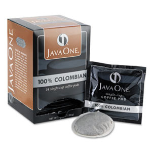(JAV30200)JAV 30200 – Coffee Pods, Colombian Supremo, Single Cup, 14/Box by JAVA TRADING CO. (14/BX)