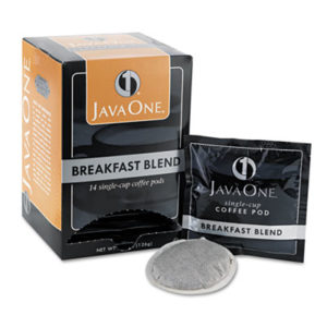 (JAV30220)JAV 30220 – Coffee Pods, Breakfast Blend, Single Cup, 14/Box by JAVA TRADING CO. (14/BX)